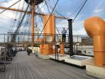 HMS Warrior can be seen from balcony
