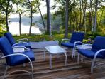 Gather for lunch and conversation on this deck, perfect for afternoon lounging.