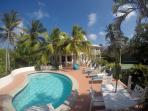 swimming pool caribbean house oceanview front