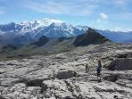 hiking in the summer on the Grand Massif Haute Savoie French Alps