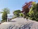 Promenade Fleuri for walking, roller skating, cycling, sitting, enjoying