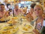 Family friendly restaurants and tapas bars for you to enjoy Spanish specialities like calamares.