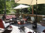 Large, very private deck for relaxing, sunbathing and grilling