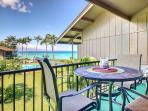 Lanai table - enjoy meals with an amazing view!
