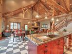 Unique woodwork abounds throughout this gorgeous residence.