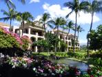 The Old Hawaii feel thrives at the Shores with low density grounds flowing with flowers, fountains.