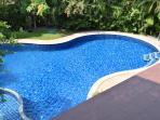 Upstairs views of swimming pool