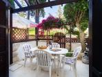 Private furnished patio