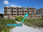 Complex photo of exact location of unit 212 at Belleair Beach Club in Florida