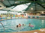 Large heated indoor and outdoor pools with sunloungers