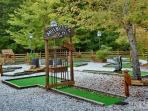 Mountain mini-golf for the  kids at Sapphire amenities center