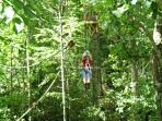 The Vordach zip-line canopy tour at the Sapphire Valley Resort- our guests receive a 25% discount.