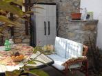Terrace/Garden of app. 25-30 m2 with parasol, seats, BBQ ...