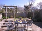 Enclosed sunny garden