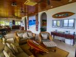 Family living area with a Contemporary relaxed beach style