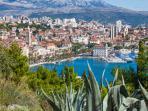 Vue sur Split depuis le Mont de Marjan