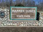 Walk to Warren Dunes on path at end of our road for huge public beach, hiking, dune climbing, etc.