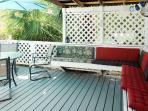 Relaxed evenings on the shaddy deck