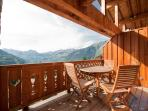 Whether summer or winter, the balcony space in the chalet is great for soaking up the views.