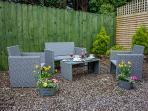 Enclosed secluded and private garden area