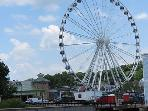 Ferris Wheel at 'The Island'. Cars are enclosed and climate controlled. Approximately 2 miles.