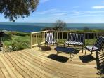 Decking and furniture for lazy days.