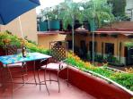 Common area on the rooftop terrace. Great place to gather at sunset or morning.