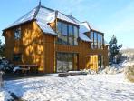 Winter wonderland with skifield close