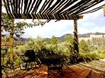 Latilla covered patio for summer shade