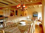 Large, custom crafted willow dining table