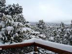 Winter view to acres of mother nature looking toward Taos Ski Valley 20 minutes no traffic lights