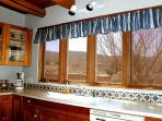 Kitchen with south east mountain views