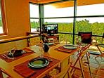 Exhilarating expansive view dining