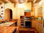 Gourmet kitchen with Viking gas oven/range