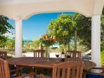Alfresco beachfront dining
