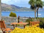 Your view from outdoor garden & deck