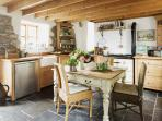 Cottage - kitchen with Rayburn range cooker