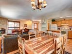 Peak 7 Hideaway Dining Area Breckenridge Lodging Vacation Rental