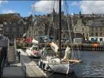 Lerwick harbour can cater for many types of vessels.