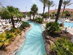 On-site amenities: lazy river by day