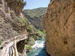 A walk through the canyon at nearby Castril.