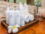 Bathroom amenities of Villa Essence