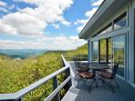 Front deck with views of Asheville.  4,500 ft elevation