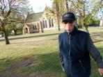 The local Anglican church built in the 1800's of sandstone (and my little brothe)r.