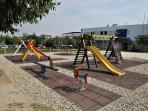 Children's playground is 100 m away, the apartment is child friendly and baby cot is included