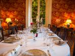 Dining is a lovely experience at the manor.