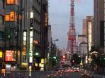 Tokyo Tower, view from Roppongi