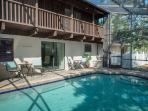 Beautiful HEATED private pool.  New Weber BBQ and convenient patio furniture.