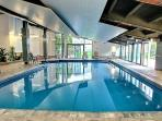 Free access to a large pool + spa + sauna.