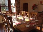 The Dining Room set for a Family Celebration